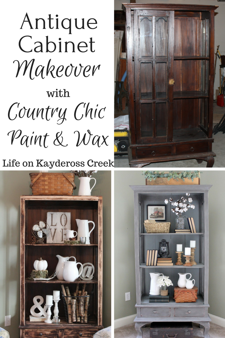 Antique Cabinet Makeover - Country Chic Paint - Farmhouse - Life on Kaydeross Creek