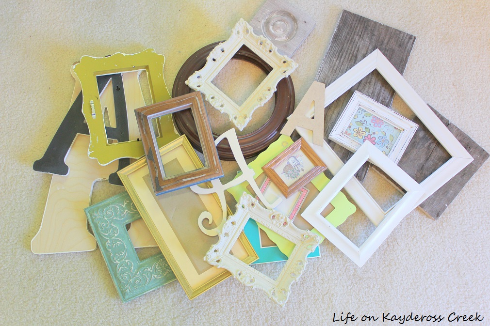 How to create a gallery wall on a budget - Pieces that make up a gallery wall - Life on Kaydeross Creek