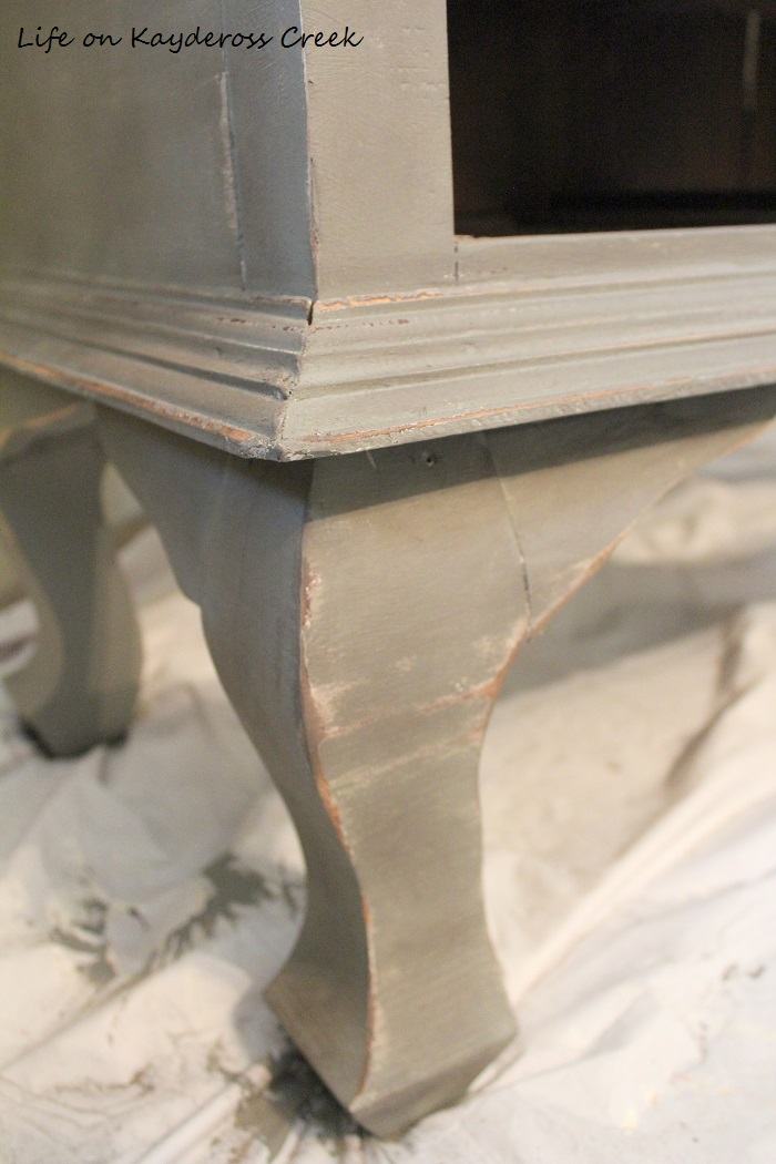 Painted Furniture - distressing details with Country Chic Paint Antique Cabinet makeover - Life on Kaydeross Creek