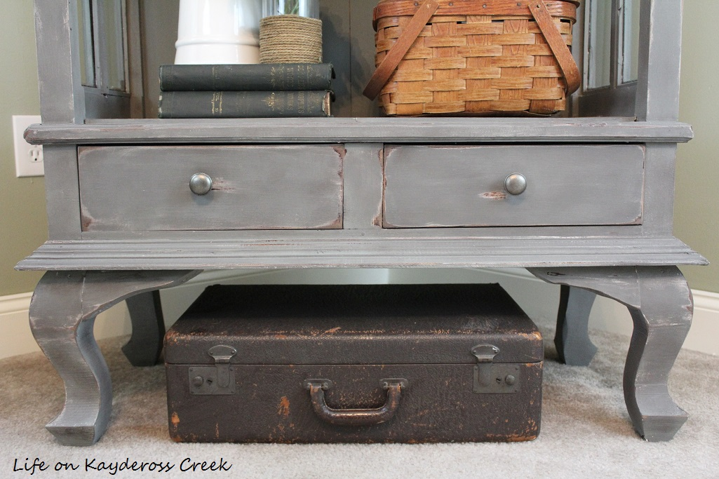 Painted Furniture - farmhouse - Antique Cabinet Makeover - Country Chic Paint - Life on Kaydeross Creek