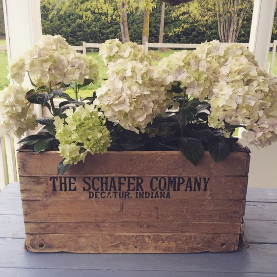 Creative Ways to display Flowers - Crates - Life on Kaydeross Creek