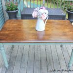 Thrift Store Table Makeover - Color wash paint technique with Antique Wax and stain completed - Life on Kaydeross Creek