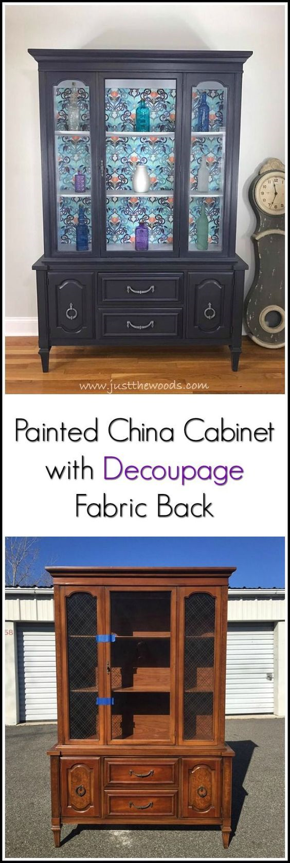 30 Farmhouse Furniture Makeovers - Painted hutch - Life on Kaydeross Creek