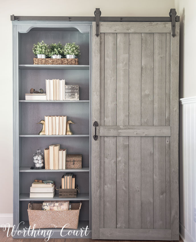 30 Farmhouse Furniture Makeovers - bookcase - Life on Kaydeross Creek