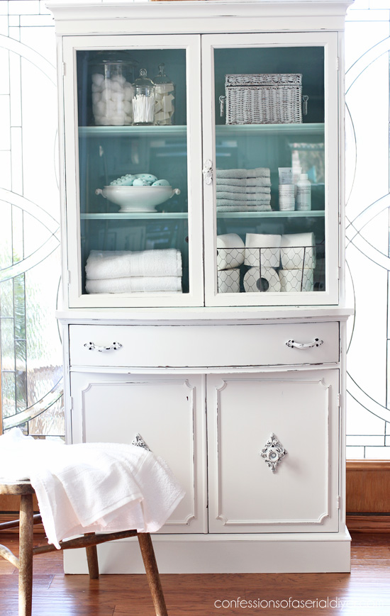 30 Farmhouse Furniture Makeovers - china Cabinet - Life on Kaydeross Creek
