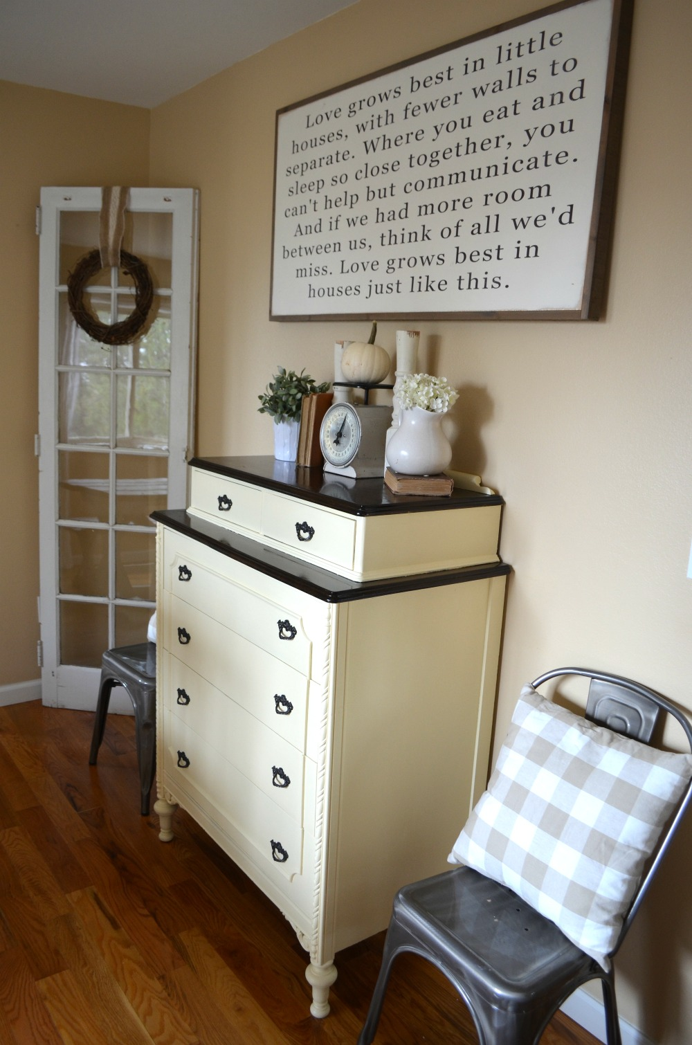 30 Farmhouse Furniture Makeovers - cream antique dresser - Life on Kaydeross Creek
