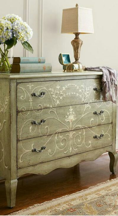30 Farmhouse Furniture Makeovers - scrolly dresser - Life on Kaydeross Creek