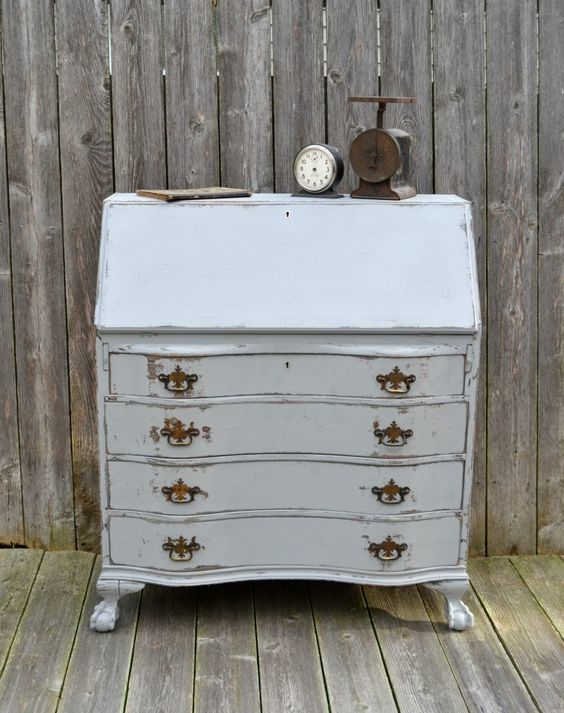 30 Farmhouse Furniture Makeovers - secretary - Life on Kaydeross Creek