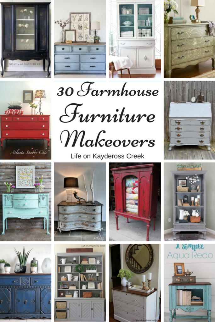 30 Farmhouse Furniture Makeovers - Life on Kaydeross Creek