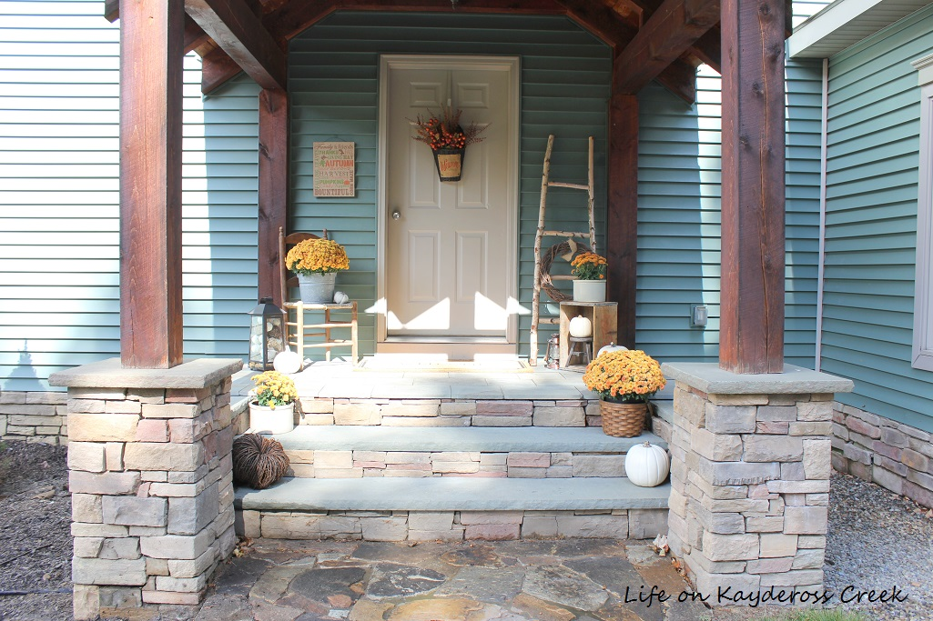 Fall Porch Tour and DIY Birch Ladder - Life on Kaydeross Creek