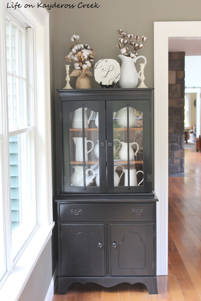 10 Tips for decorating shelves like a pro - Dining Room Hutch Makeover - farmhouse - Life on Kaydeross Creek