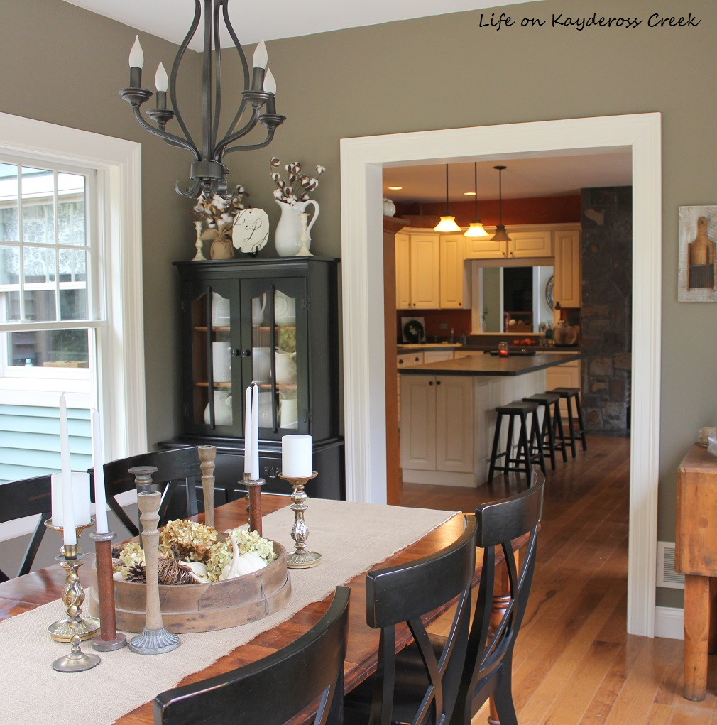 Dining Room Hutch Makeover - with black paint - farmhouse - Life on Kaydeross Creek