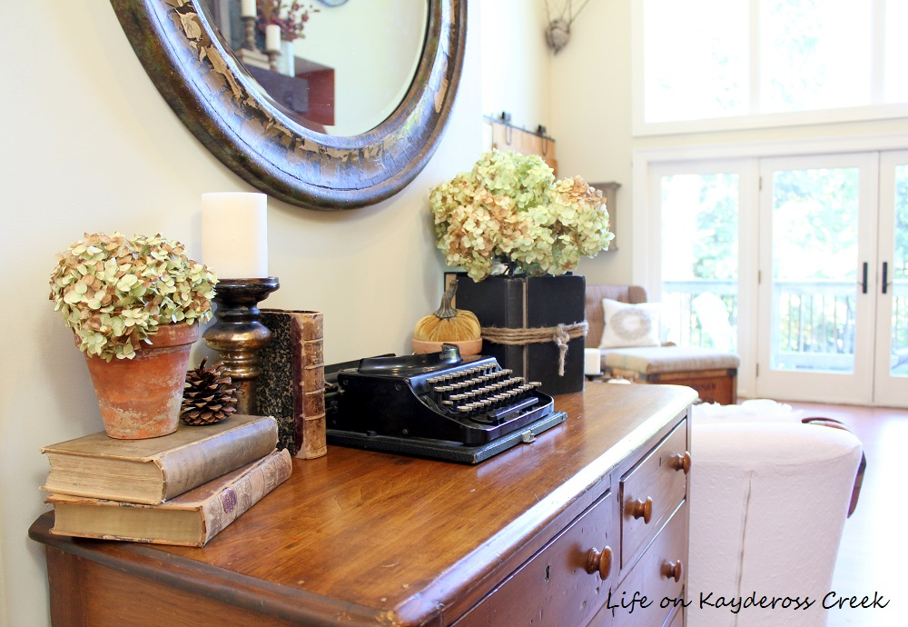 Fall Home Tour - Entryway Table -Farmhouse - Life on Kaydeross Creek