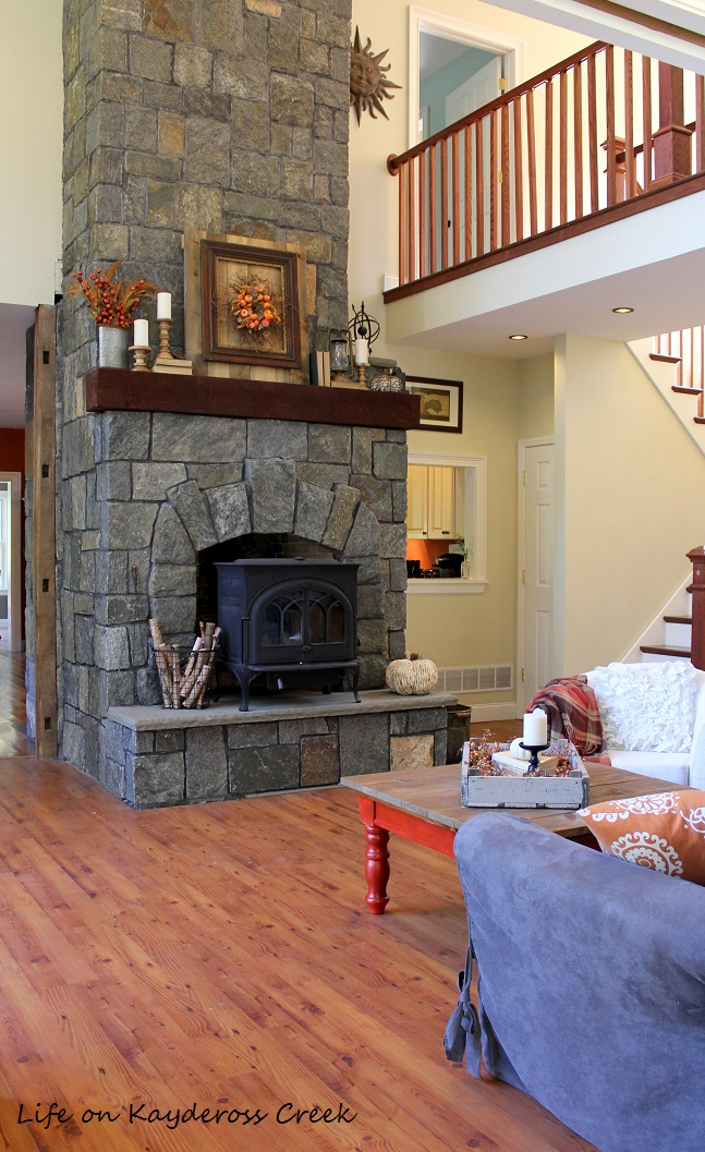 Fall Home Tour - Fireplace - Farmhouse - Life on Kaydeross Creek