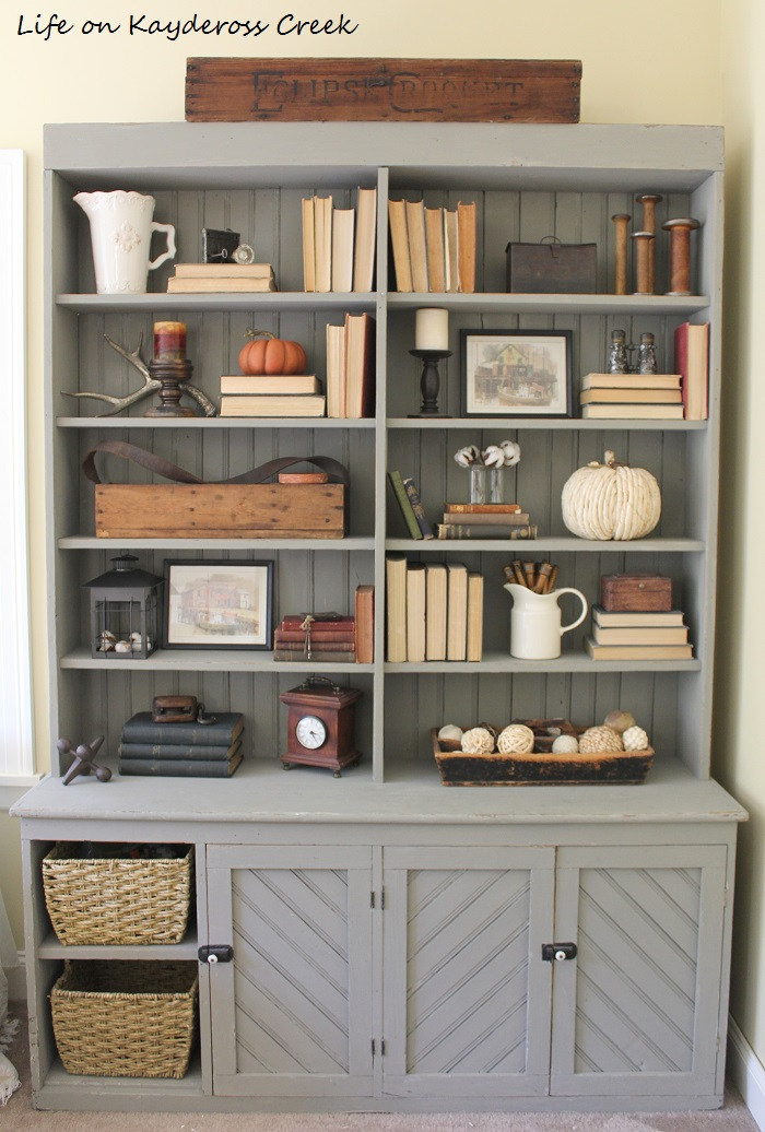 10 tips for decorating shelves - farmhouse style - Life on Kaydeross Creek