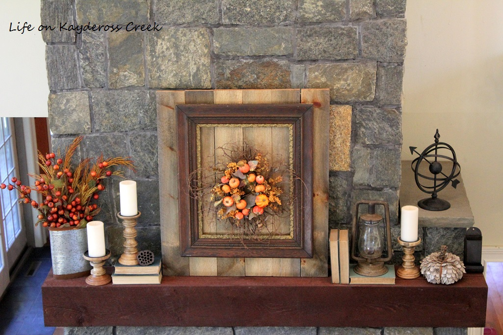 Fall Home Tour - Mantel - Farmhouse - Life on Kaydeross Creek