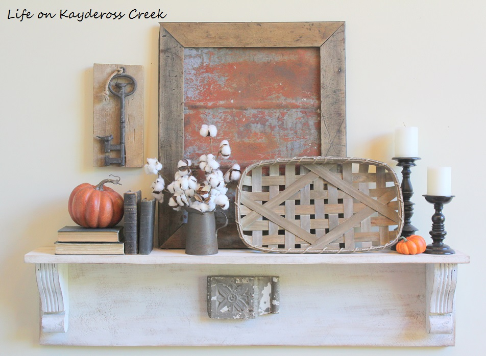 Fall Home Tour - Shelf - Farmhouse - Life on Kaydeross Creek