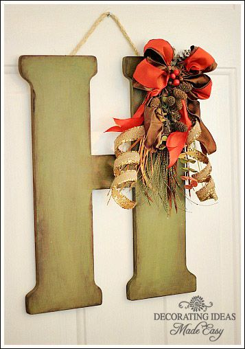 20 Alternatives for a Wreath for Fall and Winter - Letters for Wreaths - Life on Kaydeross Creek