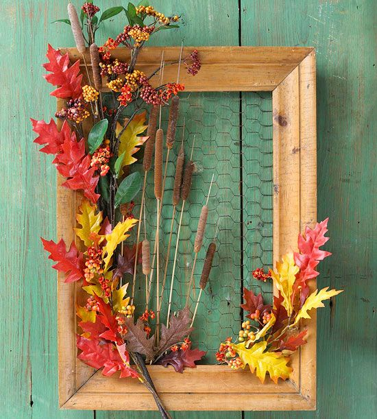 20 Alternatives to a Wreath for Fall & Winter - Frames - Life on Kaydeross Creek