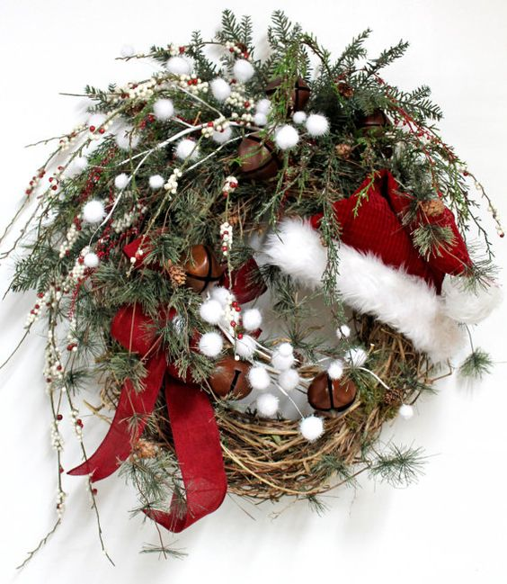 20 Alternatives to Wreaths - grapevine and greens - Life on Kaydeross Creek