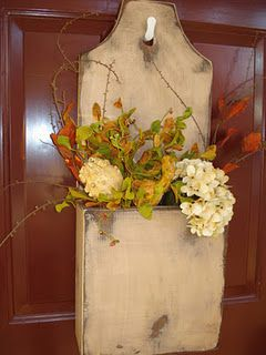 20 Alternatives to a wreath for fall or winter - for light wooden box - Life on Kaydeross Creek