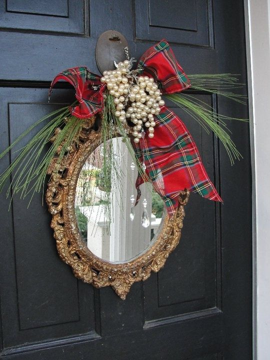 20 Alternatives to Wreaths - ornate mirror - Life on Kaydeross Creek