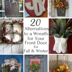 20 Creative Alternatives to a Front Door Wreath for Fall & Winter