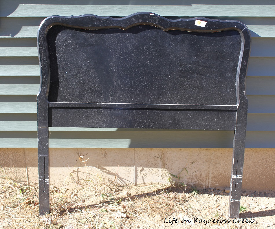 How to Create a Unique Farmhouse Chalkboard From a Twin Headboard - Life on Kaydeross Creek