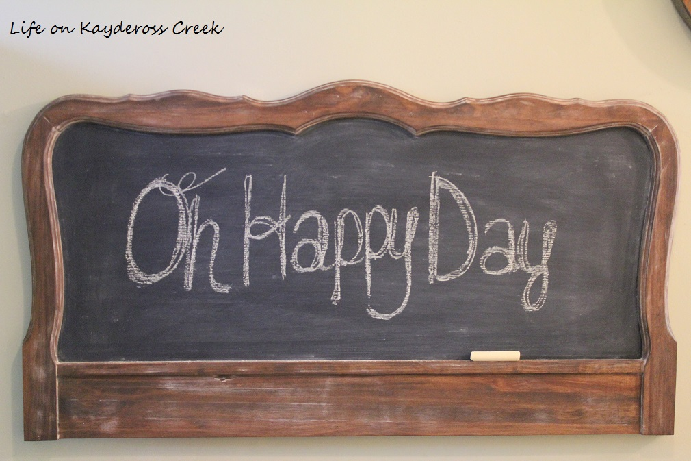 How to make a unique farmhouse chalkboard - Primed with chalk - Life on Kaydeross Creek