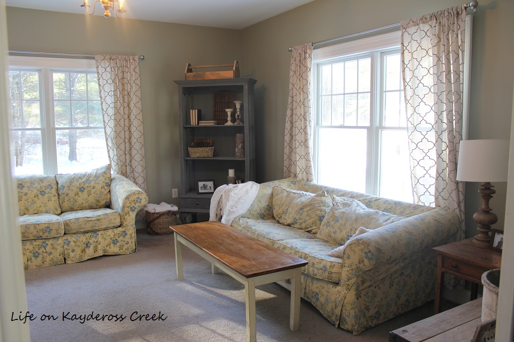 $100 Room Makeover Challenge - Before - Old Sofas - Life on Kaydersoss Creek