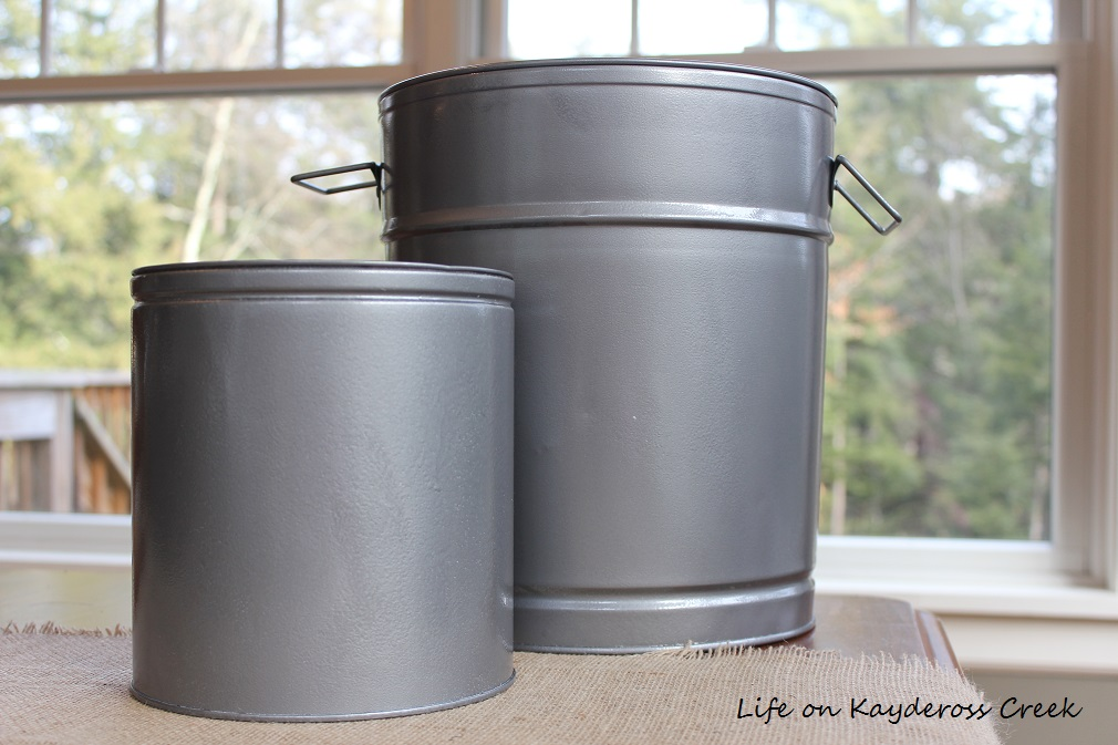 3 Easy DIY Christmas Decor Projects Using Sprary Paint - painted tins - Life on Kaydeross Creek