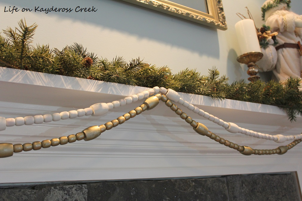 3 Easy DIY Projects with Spray Paint - beaded garland - Life on Kaydeross Creek