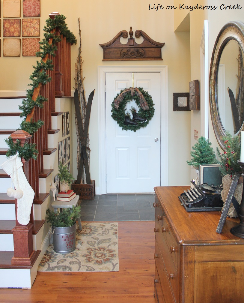 Classic Christmas Home Tour - Foyer - Life on Kaydeross Creek