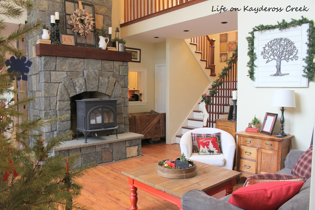 Classic Christmas Home Tour - Great Room Fireplace - Life on Kaydeross Creek