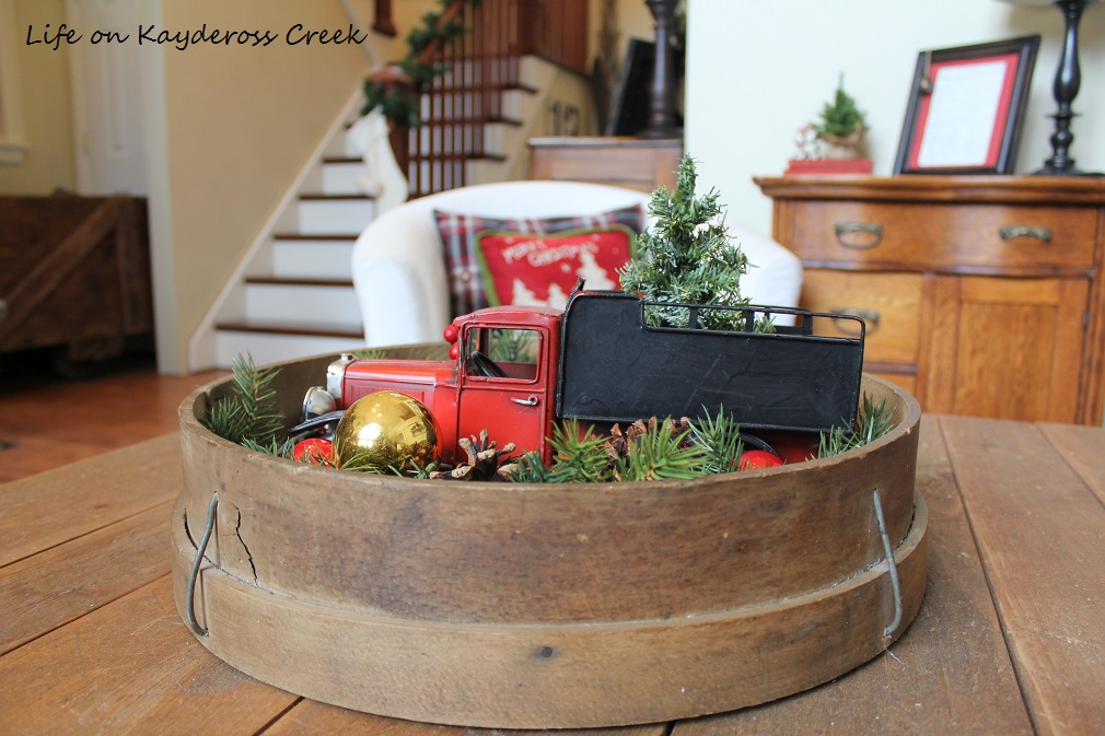 Classic Christmas Home Tour - Great Room Little Red Truck - Life on Kaydeross Creek