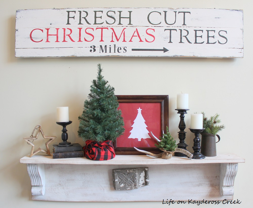 Classic Christmas Home Tour - Great Room Shelf- Life on Kaydeross Creek