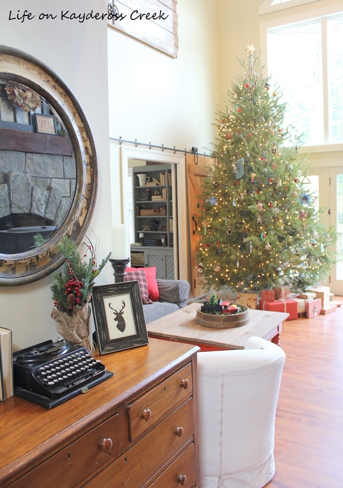 Classic Christmas Home Tour - Great room and tree - Life on Kaydeross Creek