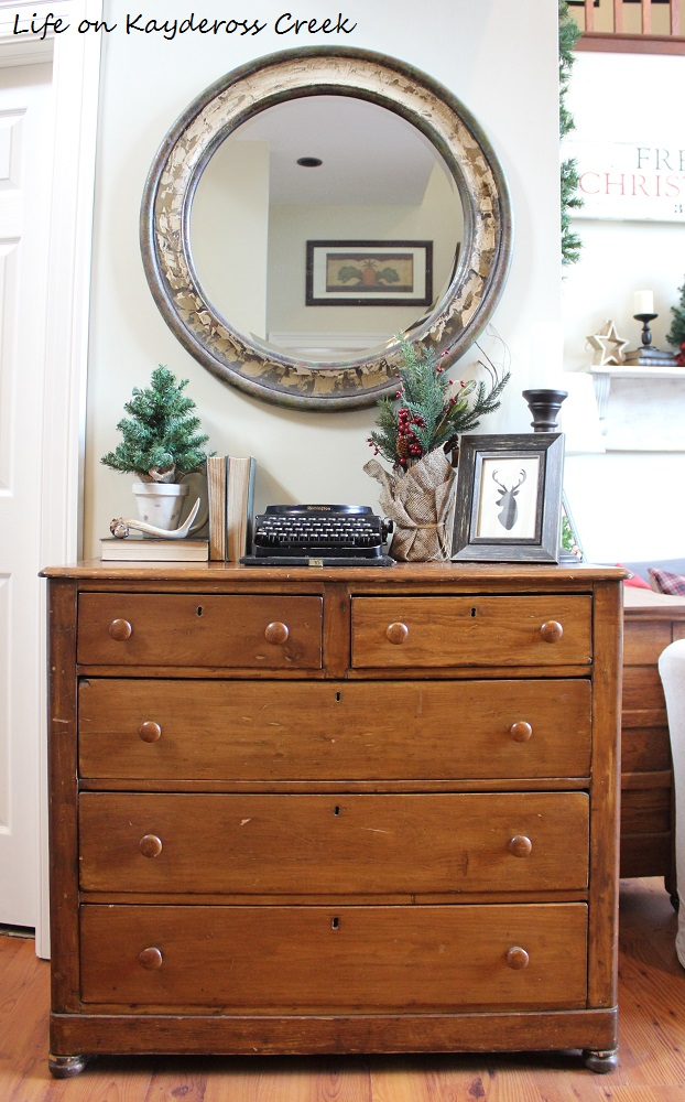Classic Christmas Home Tour - Rustic Entry Table - Life on Kaydeross Creek