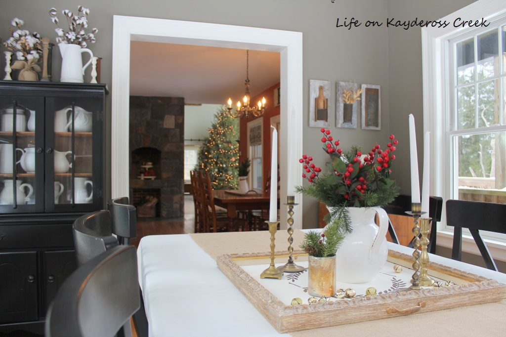 Classic Christmas Home Tour part 2 - Dining room Christmas - Farmhouse Christmas - Life on Kaydeross Creek