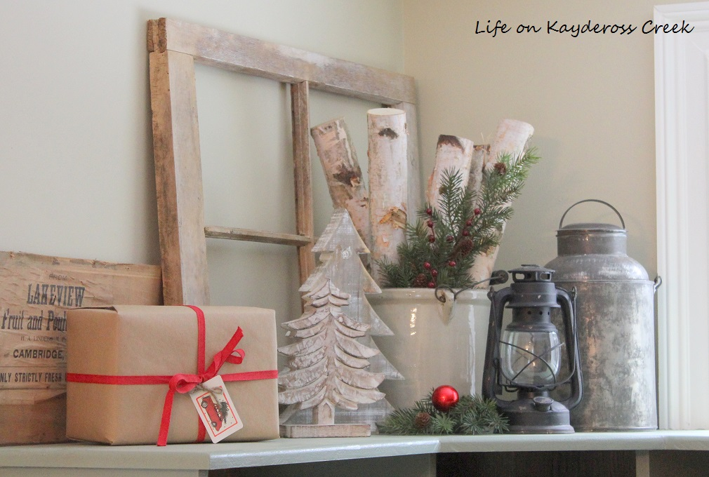 Classic Christmas Home Tour part 2 - mudroom christmas - Farmhouse Christmas - Life on Kaydeross Creek