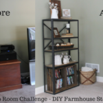 $100 Room Challenge Week 2 – DIY Farmhouse Storage
