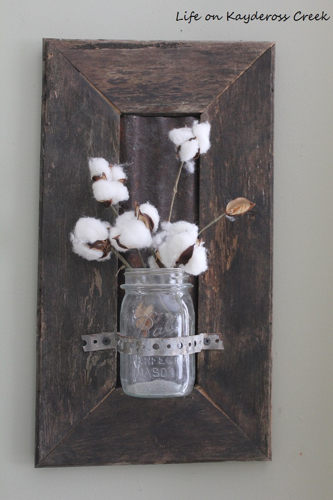 $100 Room Challenge - DIY Farmhouse Wall Decor - old flooring used for wall decor - Life on Kaydeross Creek