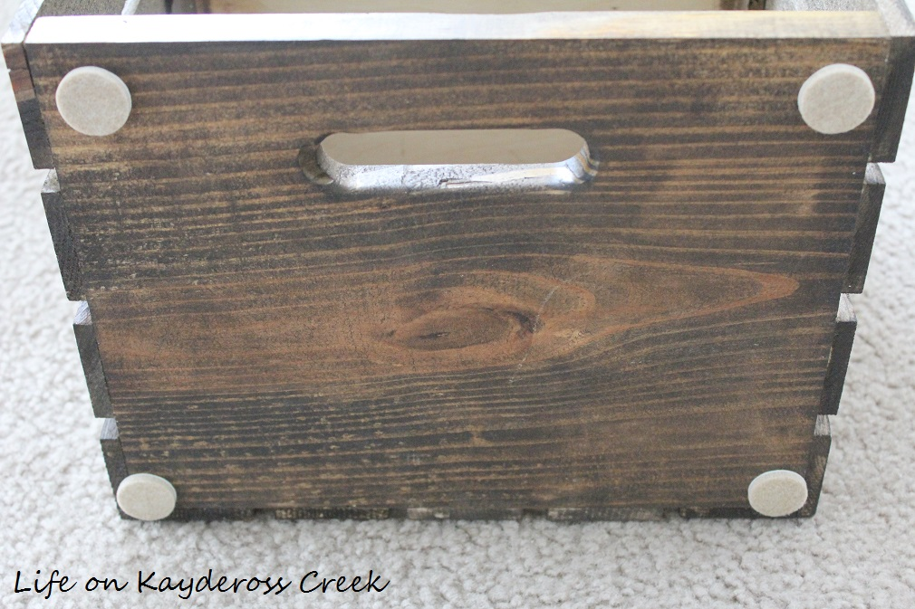 $100 Room Challenge - stained crates to hold DVD's, Blu Ray and Xbox games - farmhouse storage - Life on Kaydeross Creek