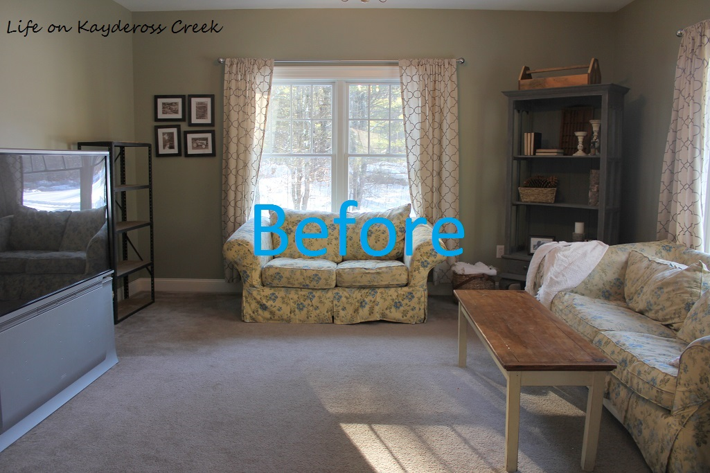 $100 Room Makeover Challenge - Space Before - DIY Projects - Farmhouse - Organization - Painted furniture - Life on Kaydersoss Creek
