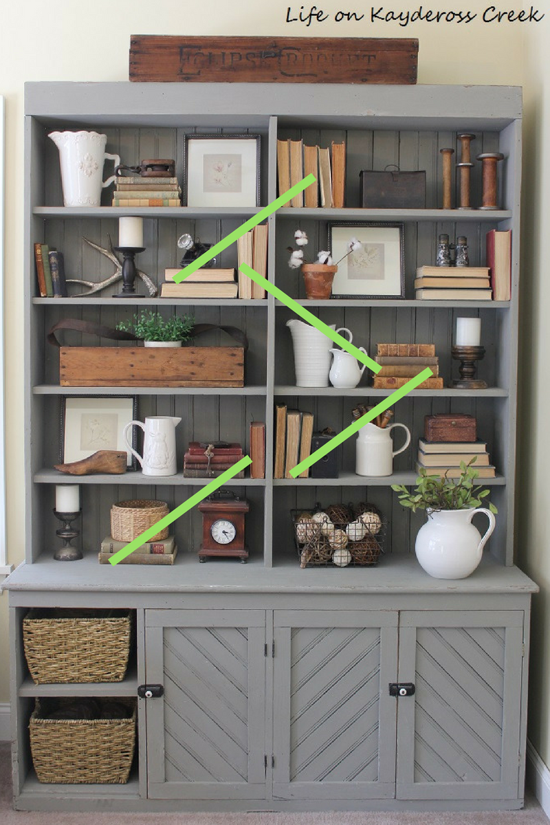 10 tips for decorating shelves like a pro - site lines - farmhouse - Life on Kaydeross Creek