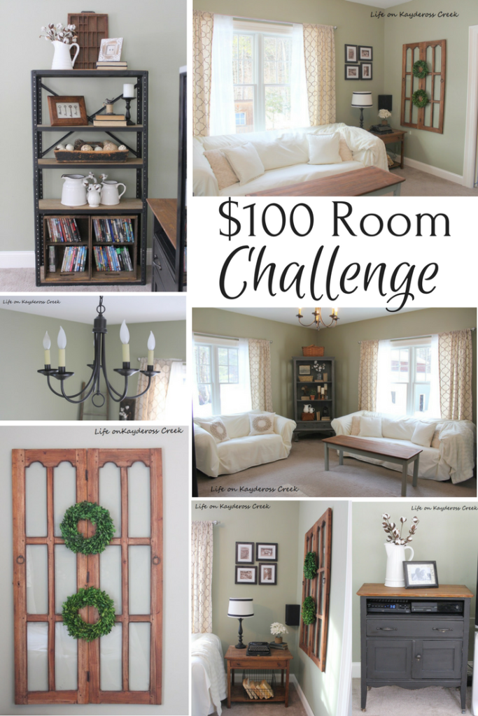 $100 Room Challenge Family Room Reveal Life on Kaydeross Creek