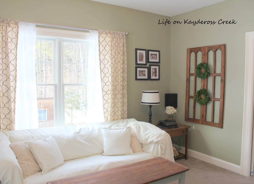 $100 Room Challenge -Family Room - sofa - Farmhouse - Life on Kaydeross Creek