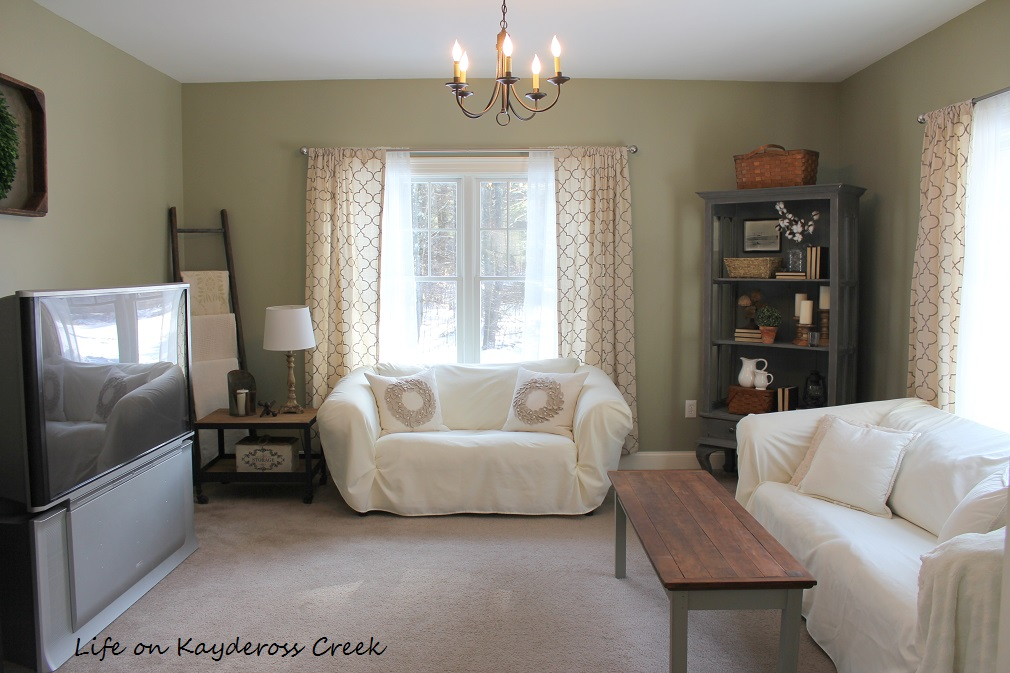 $100 Room Challenge - Our Family Room - Life on Kaydeross Creek