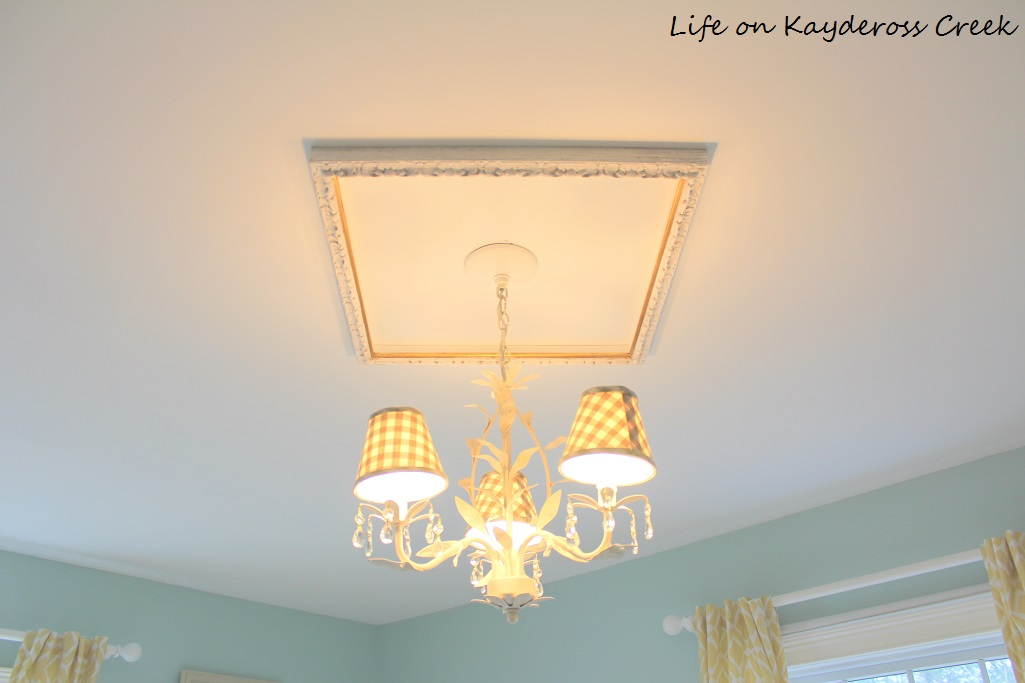 Diy Ceiling Medallion Using A Picture Frame Life On Kaydeross Creek