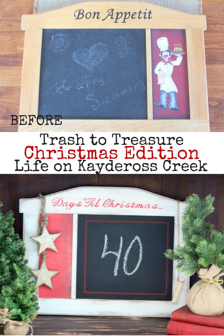 Countdown To Christmas Trash To Treasure Upcycled Life On